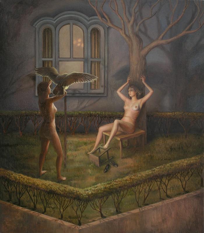 Ombre di notte, olio su tela, 80x70cm, 2012